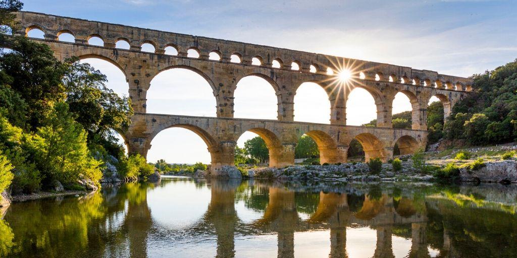 Imatge d'un aqüeducte romà