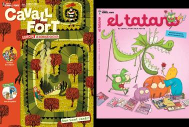 Imatges de les portades de 2 revistes infantils