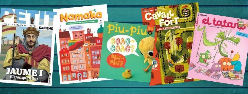 Imatge de diferents portades de revistes infantils