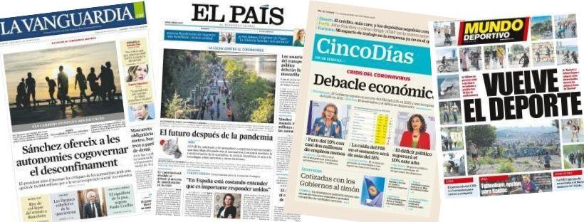 Imatge dels diaris disponibles a eBiblio