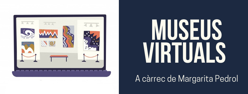 Imatge amb el text Museus virtuals i il·lustració relacionada