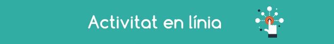 Imatge amb el text activitat en línia