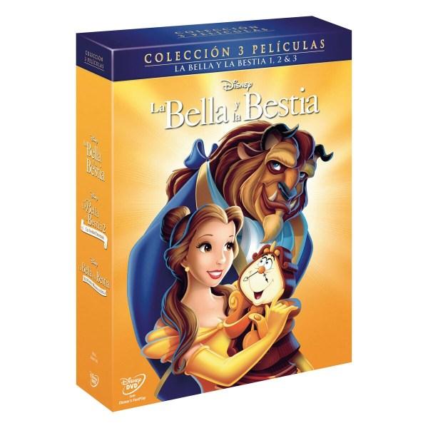 Imatge de la caràtula de la pel·lícula La bella y la bestia. Colección 3 películas