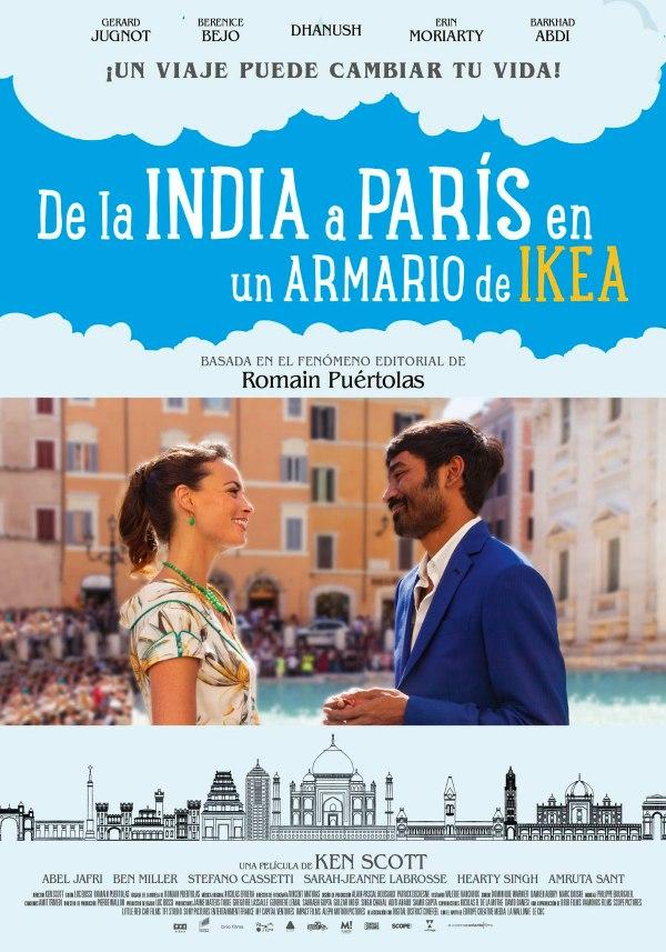 Imatge del cartell de la pel·lícula De la India a París en un armario de Ikea