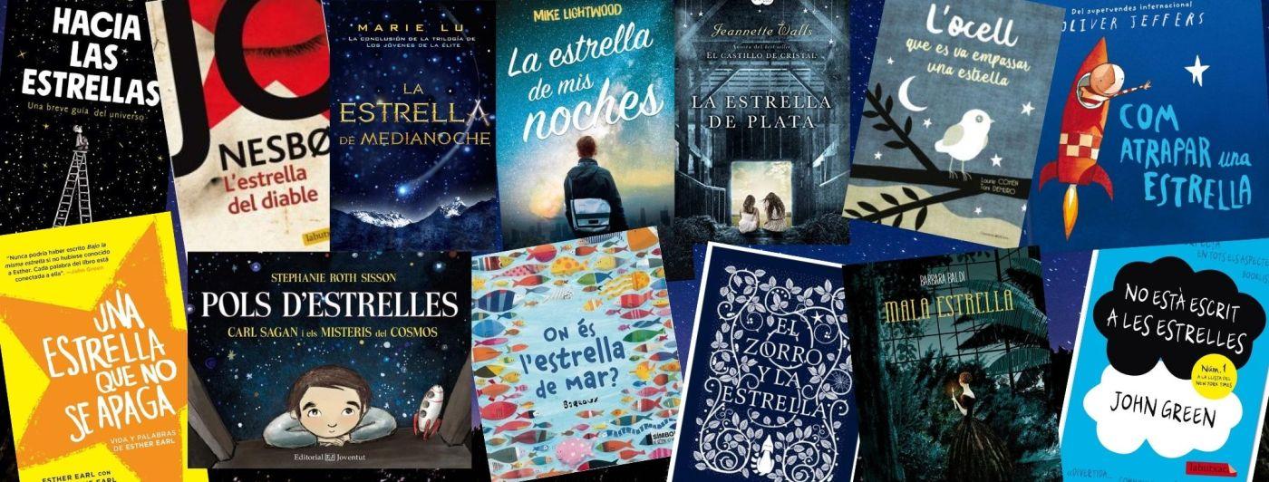 """Imatge amb diferents portades de llibres que inclouen la paraula """"estrella"""" al títol"""