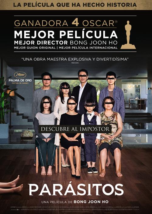 Imatge del cartell de la pel·lícula Parásitos