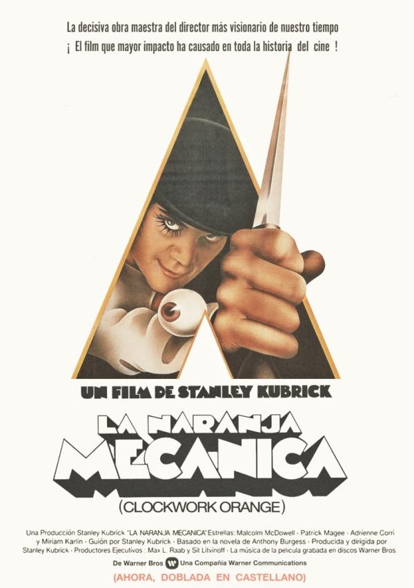 Imatge del cartell de la pel·lícula La naranja mecánica