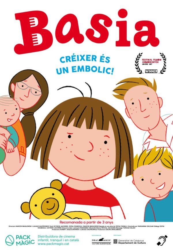 Imatge del cartell de la pel·lícula Basia: crèixer es un embolic!