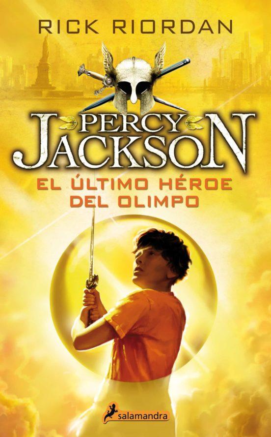 Imatge de la portada del llibre Percy Jackson. El último héroe del Olimpo