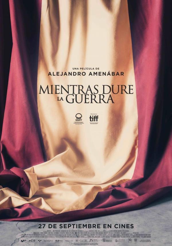 Imatge del cartell de la pel·lícula Mientras dure la guerra