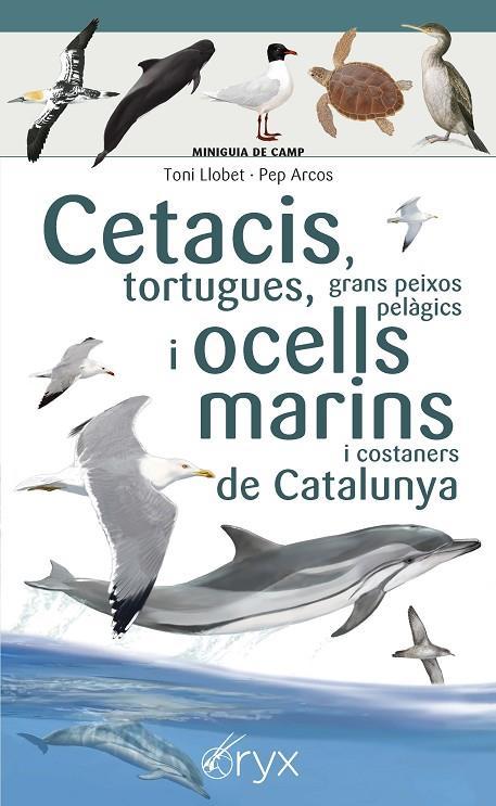 Imatge de la portada del llibre Cetacis, tortugues, grans peixos pelàgics i ocells marins i costaners de Catalunya