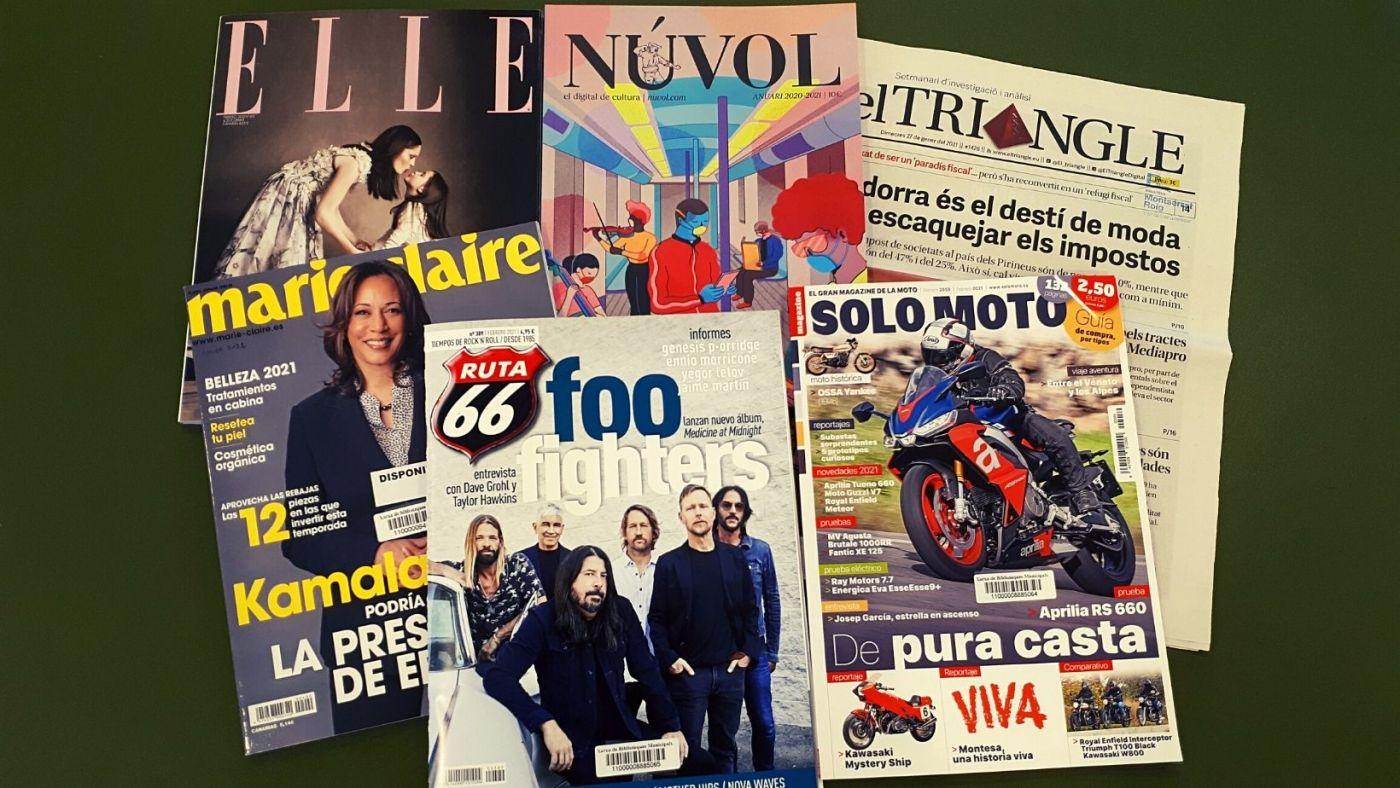 Imatge amb diverses portades de revistes