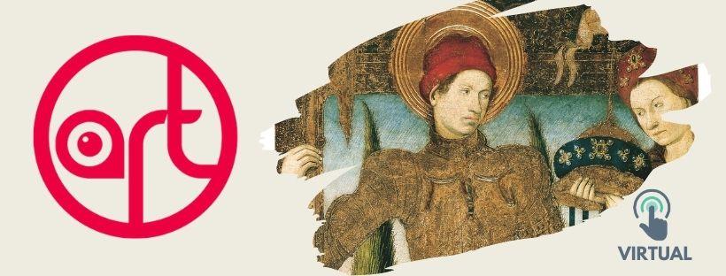 Imatge que inclou una imatge de la taula gòtica Sant Jordi i la princesa