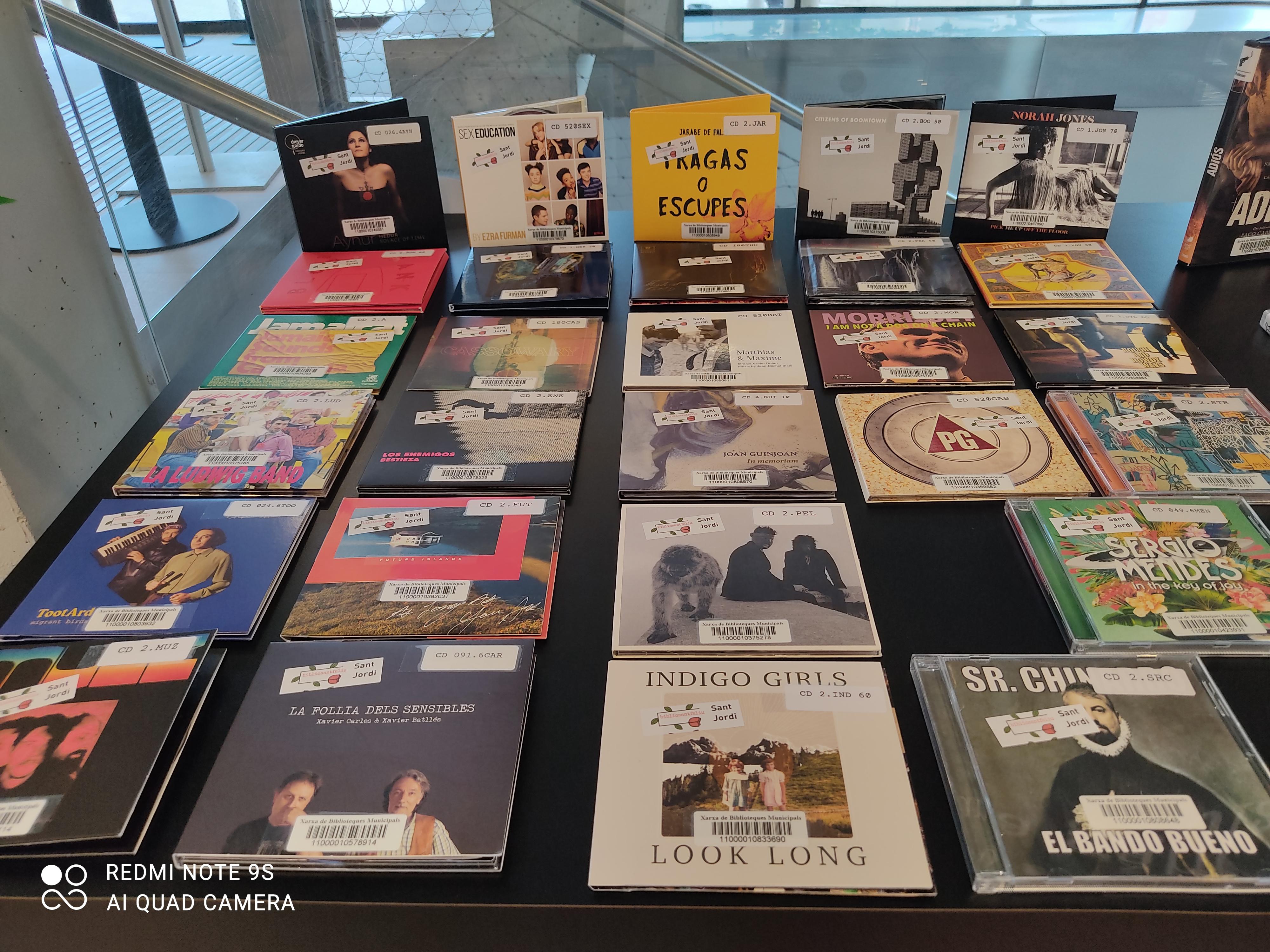 Imatge de diversos CD de música