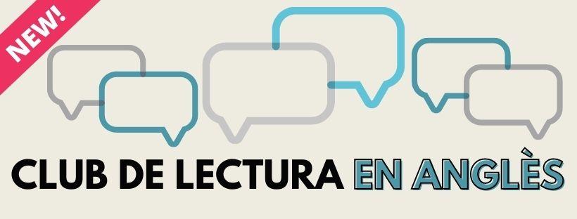 Imatge amb el text Club de lectura en anglès