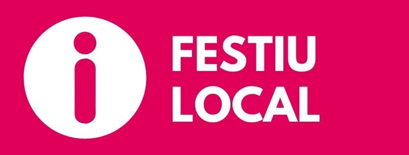Imatge amb el text Festiu local