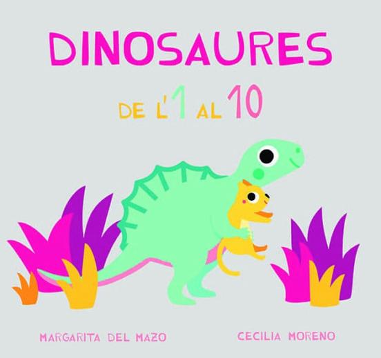 Imatge de la portada del llibre infantil Dinosaures de l'1 al 10