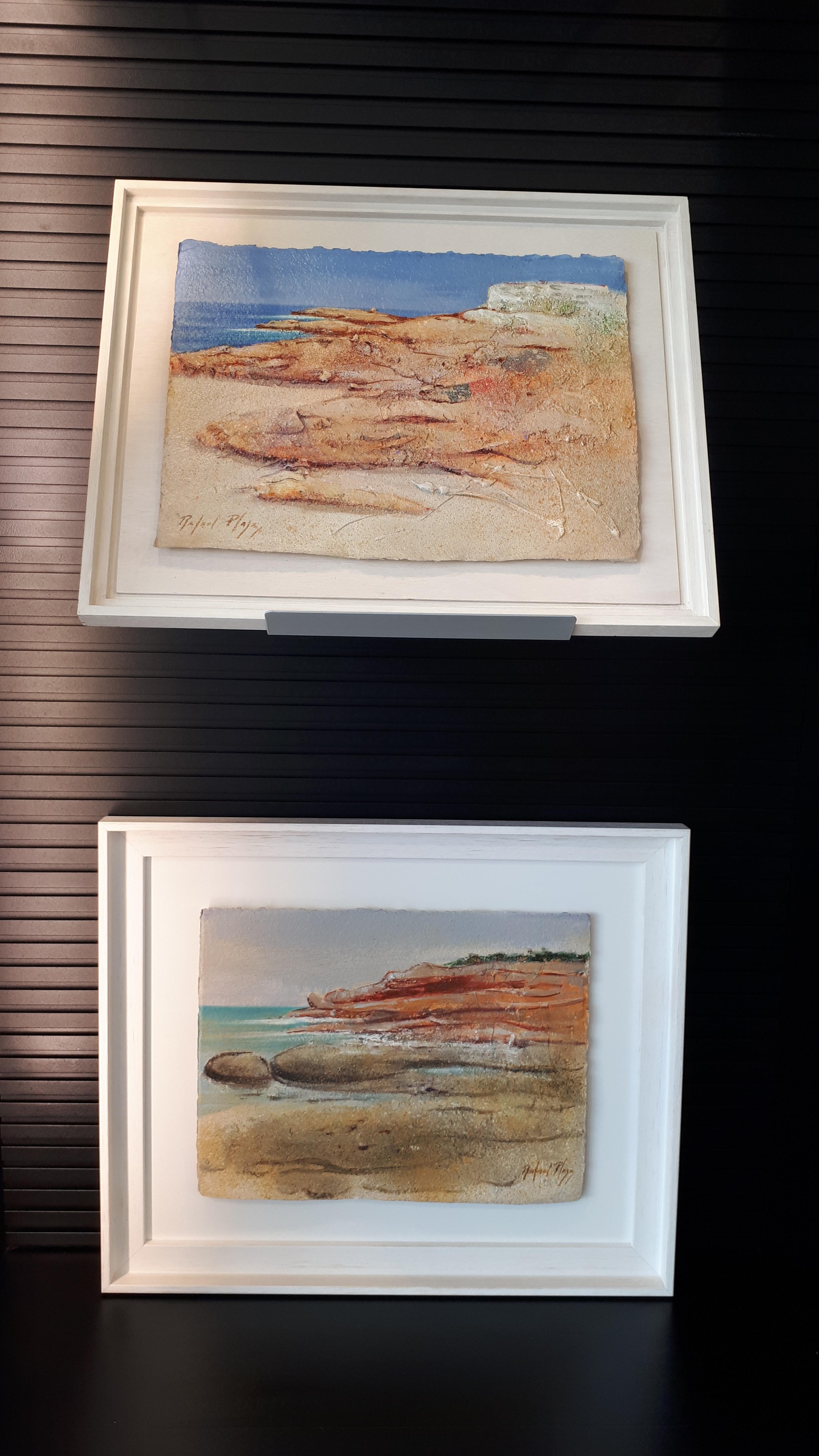 Imatge de dos quadres del pintor Rafael Plaza