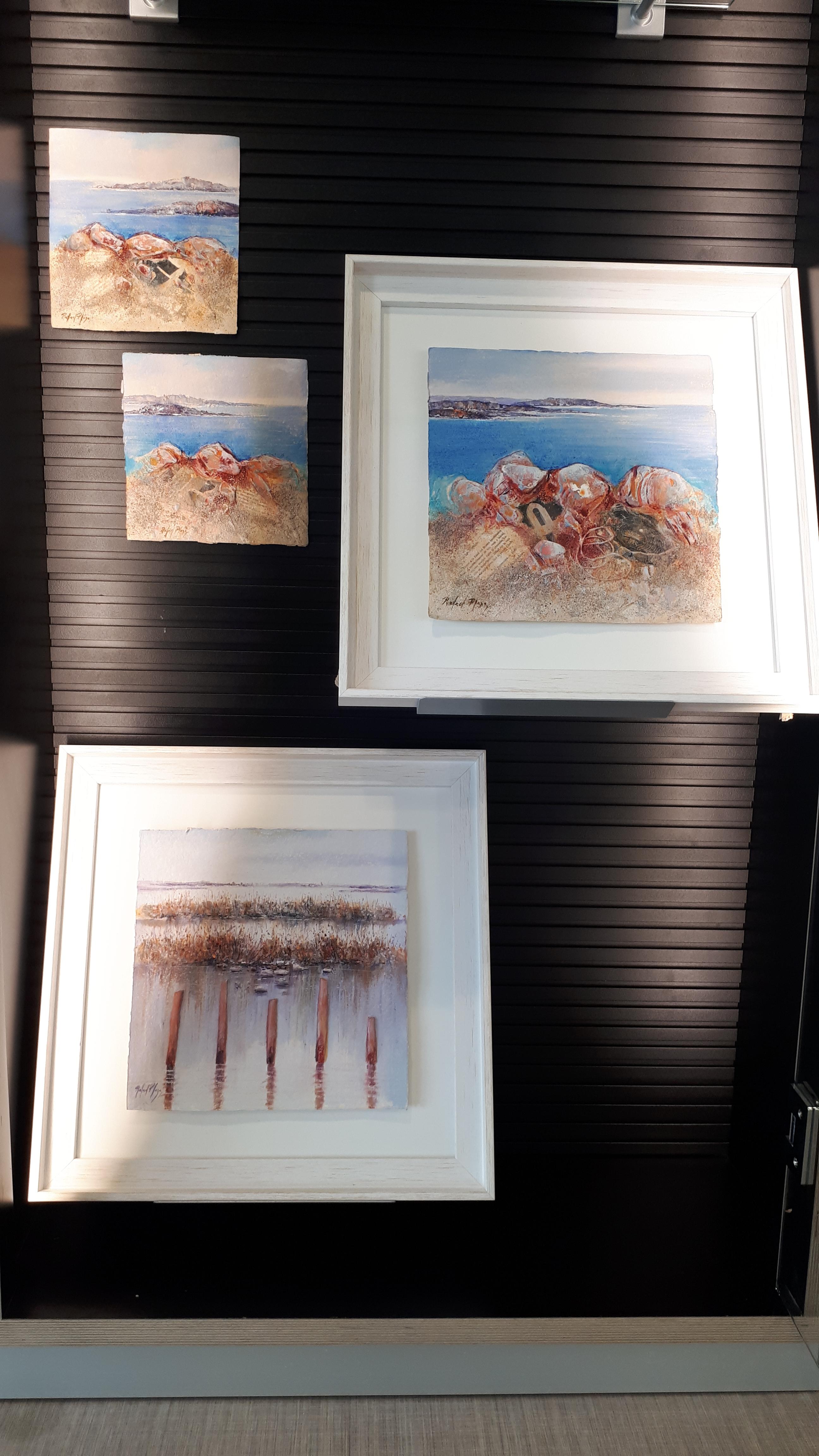 Imatge de diversos quadres del pintor Rafael Plaza