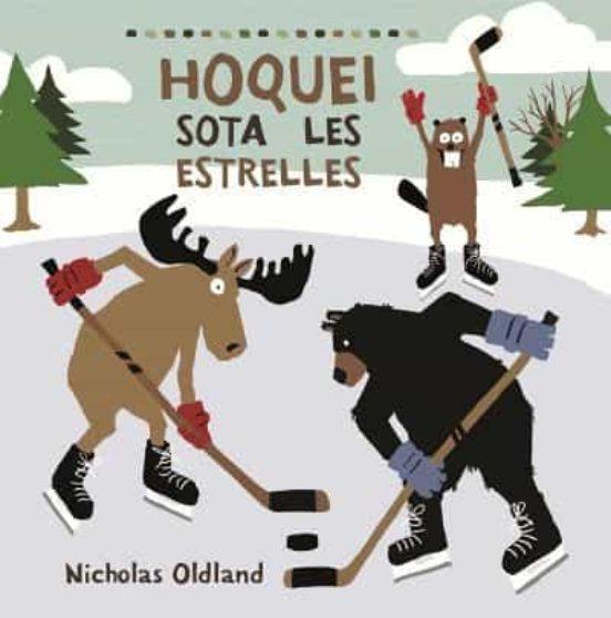 Imatge de la portada del llibre infantil Hoquei sota les estrelles
