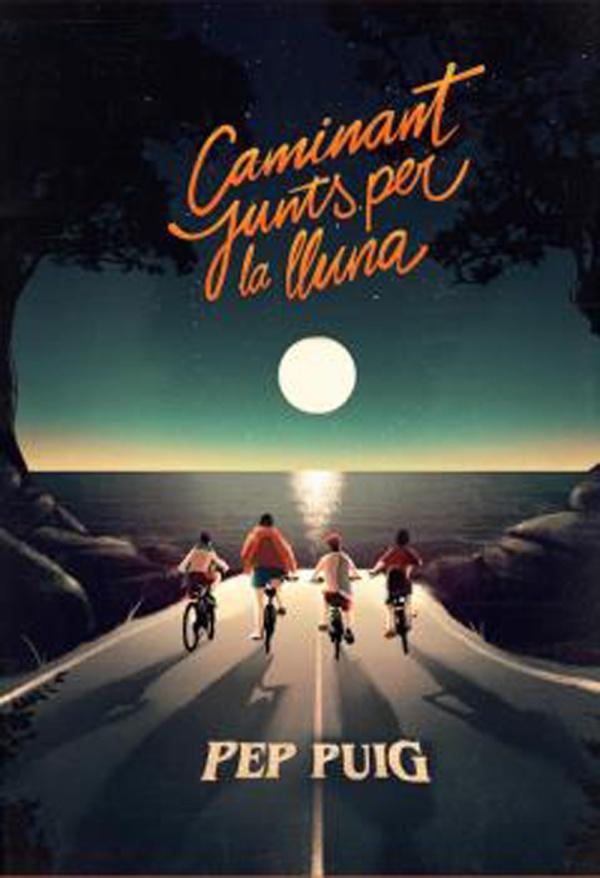 Imatge de la portada de la novel·la juvenil Caminant junts per la lluna